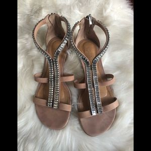 Schutz jeweled flat sandals